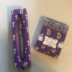 Vera Bradley Simply Violet pen & pocket papers